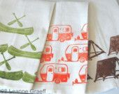 Camping Dish Towels...Am I too young to have an obsession with tea towels? :)