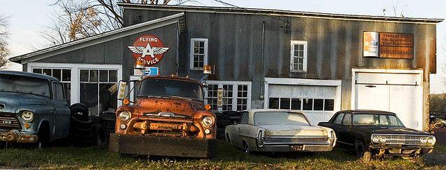Old Mechanics Garage Mechanic Garage Cars Trucks Car