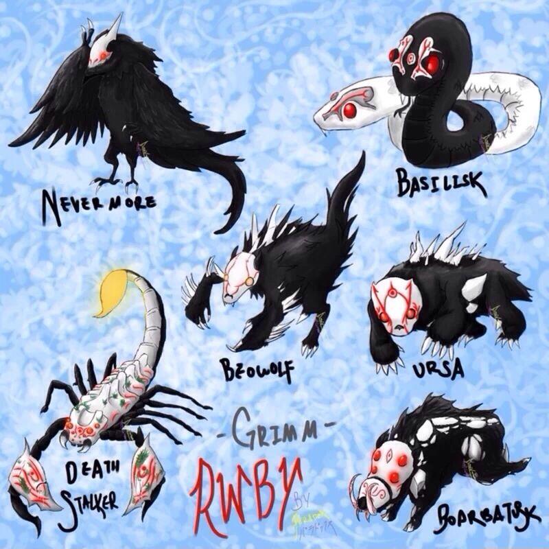Some of the grimm from rwby | RWBY | Rwby, Rwby grimm, Rwby anime