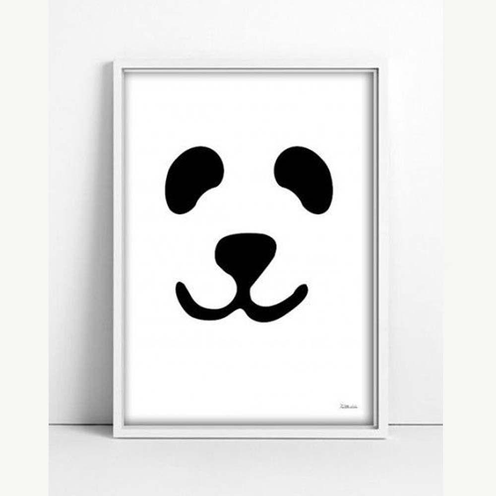 """""""Panda"""" SchwarzWeißPoster mit Pandagesicht A3"""