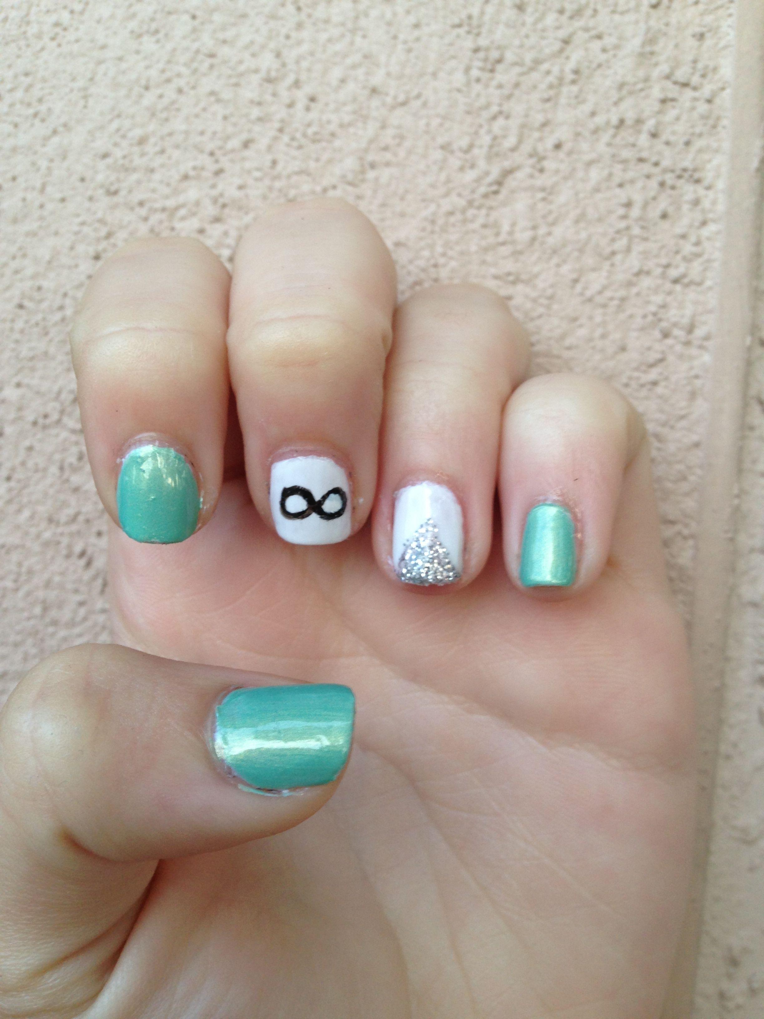 Infinity nail art | Nail Art | Pinterest | Infinity nails ...