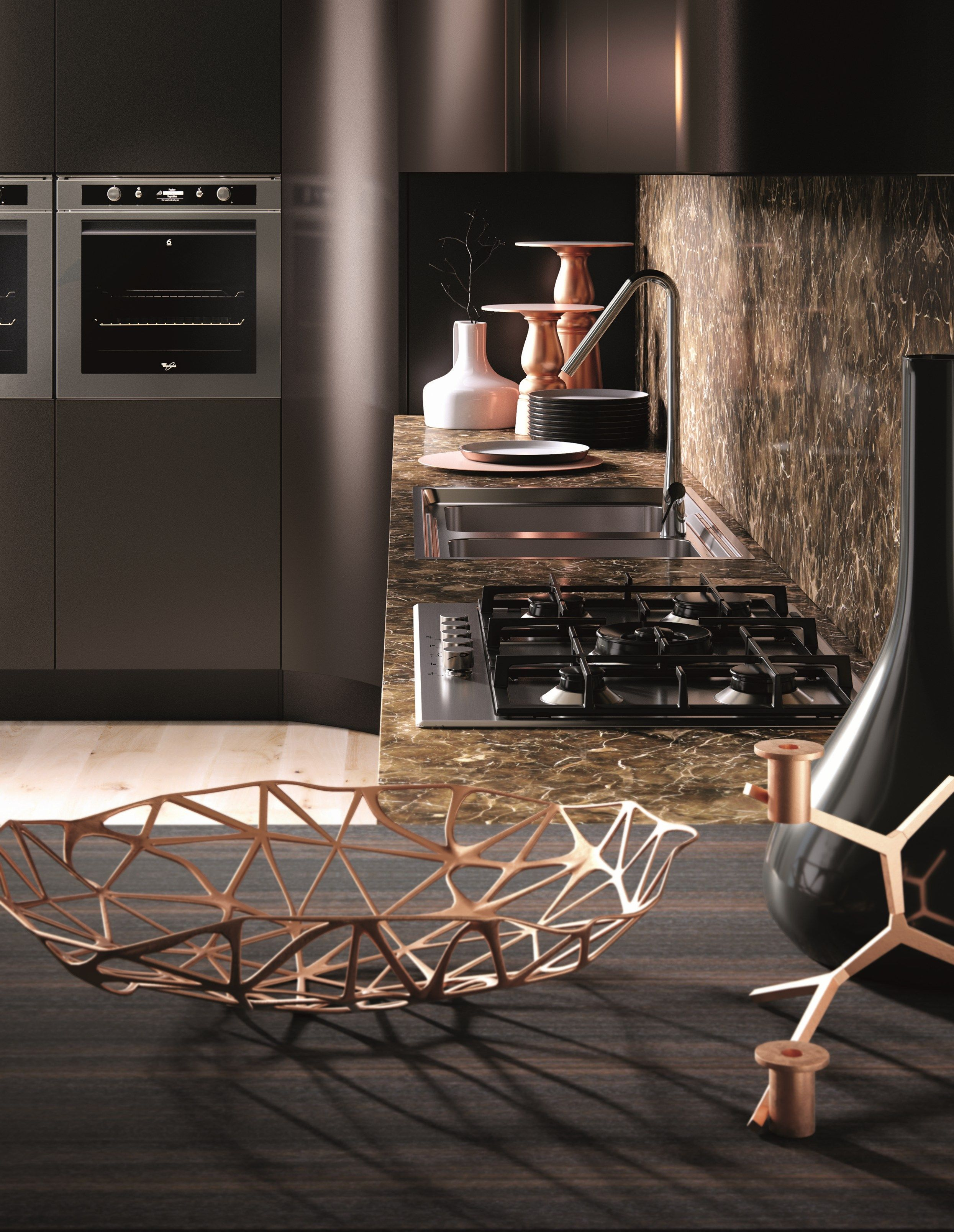 DOMINA Linear kitchen by Aster Cucine design Lorenzo Granocchia ...