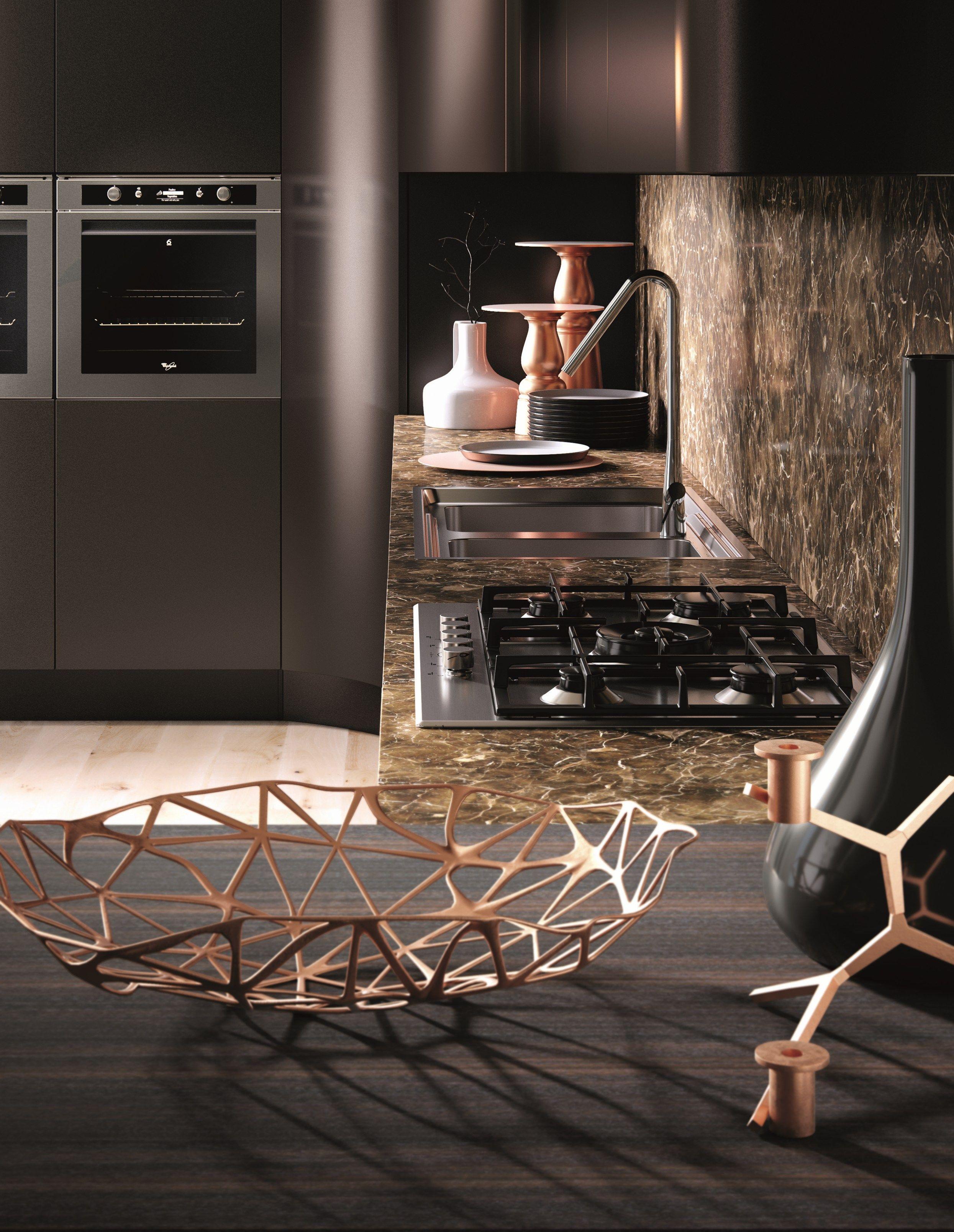 DOMINA Linear kitchen by Aster Cucine design Lorenzo Granocchia ...