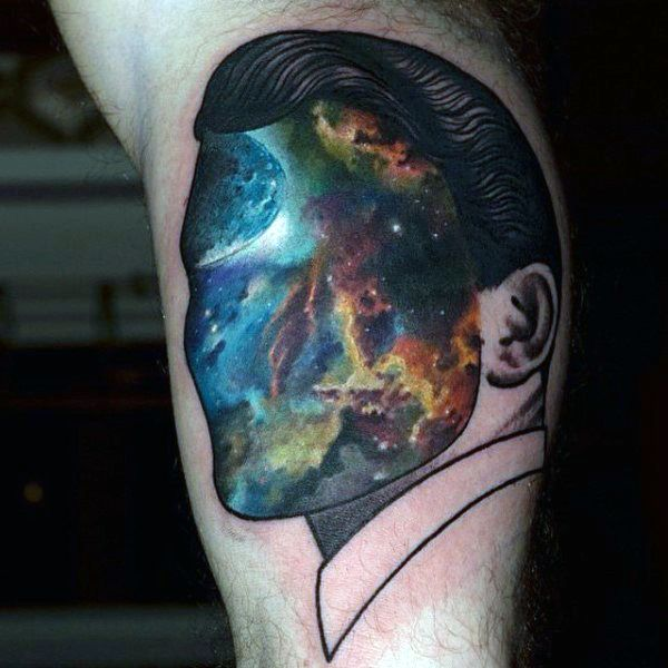 75 Universe Tattoo Designs For Men Matter And Space Universe Tattoo Galaxy Tattoo Celestial Tattoo