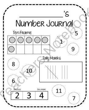 Number Journal from teachingoncedarstreet on