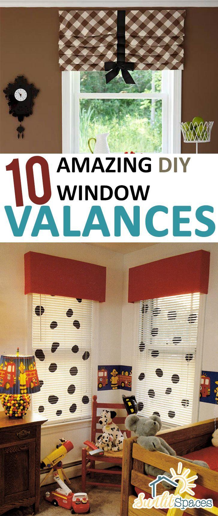 Popular window coverings   amazing diy window valances   homemade curtains diy curtains