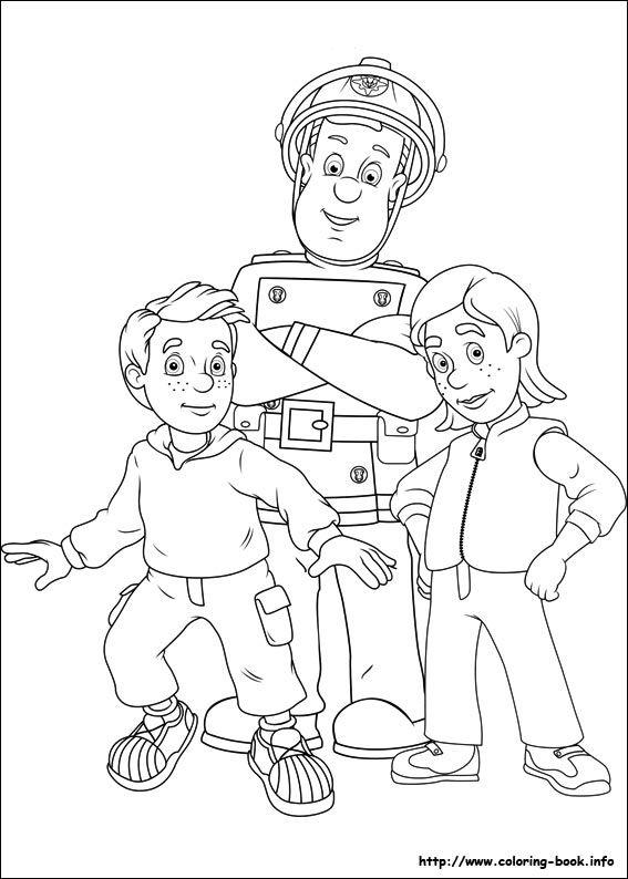Gratis Kleurplaten Fireman Sam.Brandweerman Sam Knutselen Met Kids Kleurplaten