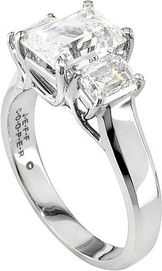 a97f6ed5c8fc3 Jeff Cooper Three Stone Emerald Cut Trellis Engagement Ring..LOVE ...