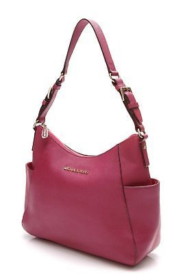 MICHAEL Michael Kors Pink Saffiano Leather Jetset Shoulder Bag