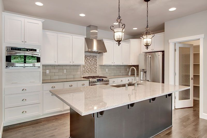 Contemporary Kitchen With Merola Tile Trapezium Grey 1134 Inx Inspiration 11 X 8 Kitchen Designs Design Ideas