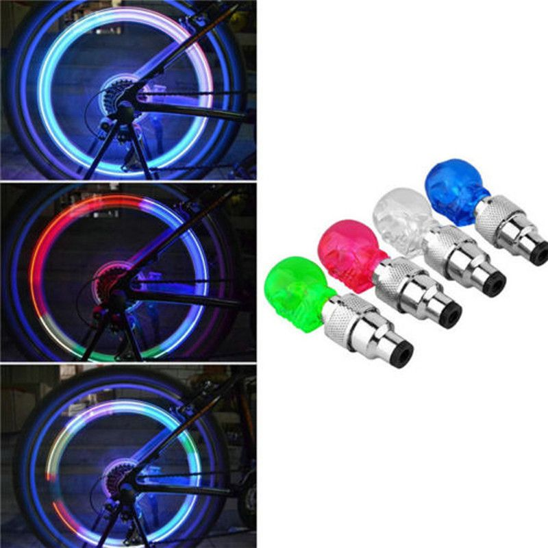 NEW LED Wheel Tyre Light Tire Valve Cap For Bike Bicycle Motorcycle Lights 41