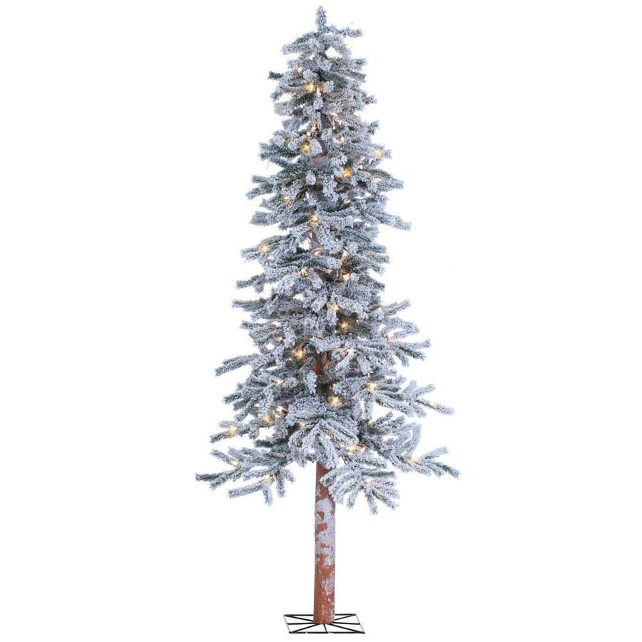 Sterling Tree Company 6 Ft Alpine Pre Lit Flocked Artificial Christmas Tree With 150 Constant White Clear Incandescent Lights Lowes Com Alpine Christmas Tree Fake Christmas Trees White Artificial Christmas Tree