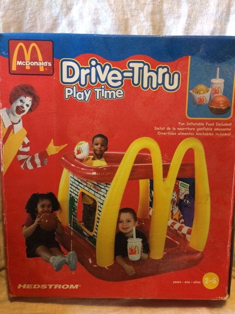 McDONALDS Drive Thru Play Time inflatable Toy Hedstrom