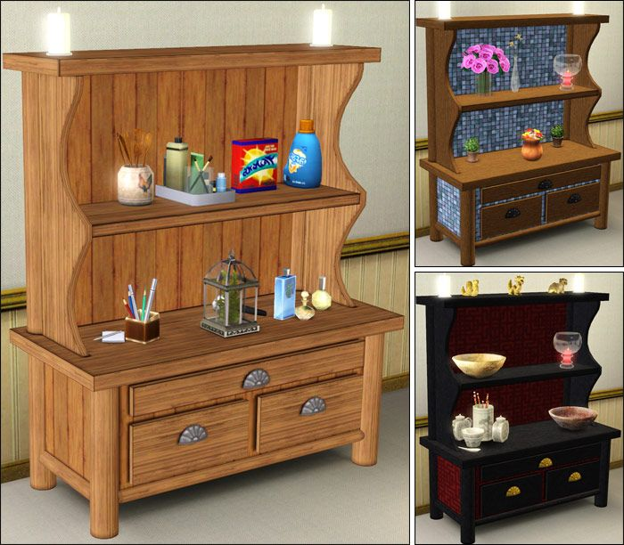 Country Kitchen Welsh Dresser Parsimonious The Sims 3