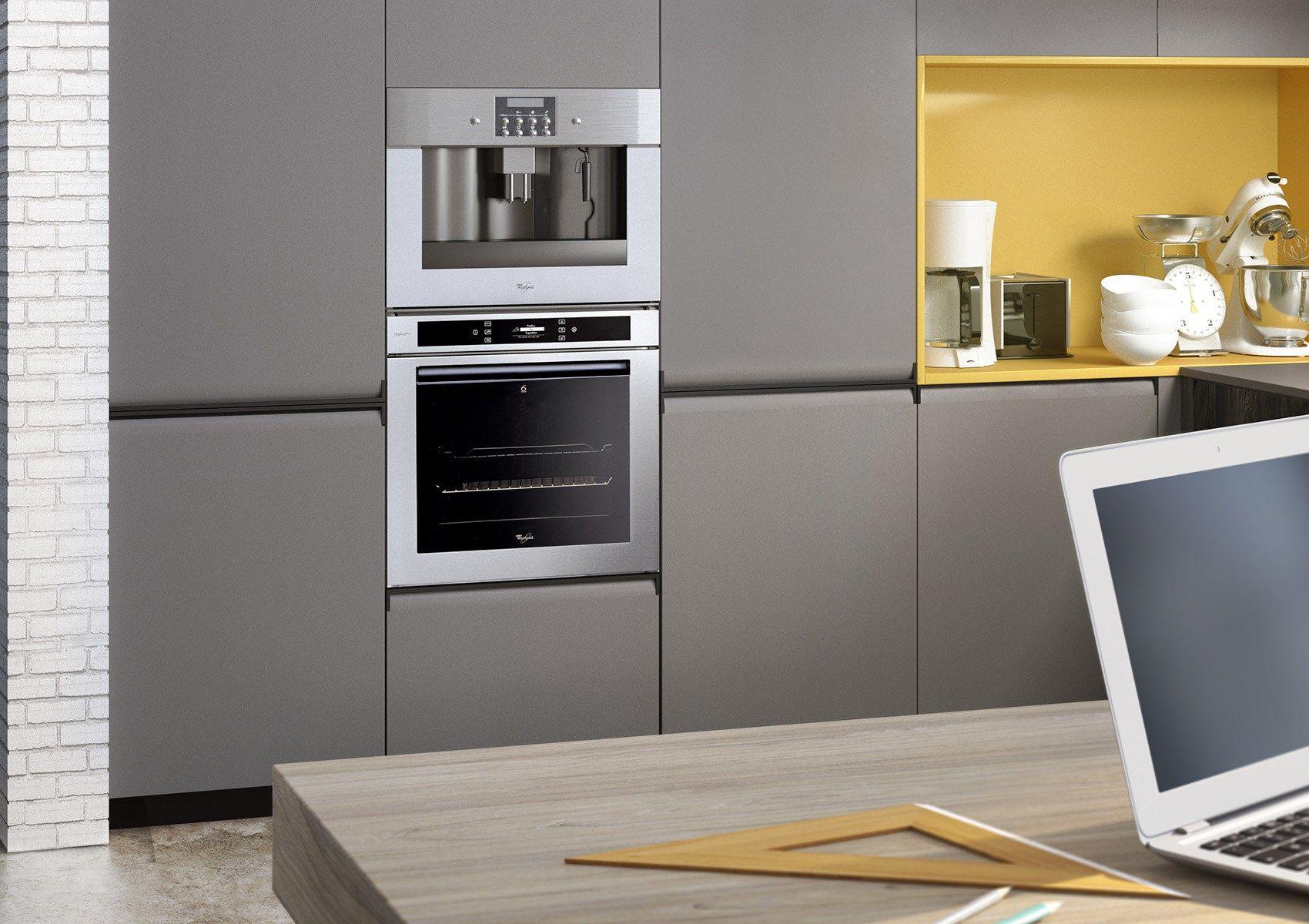 GIBILTERRA Cocina con tiradores integrados by Del Tongo diseño ...