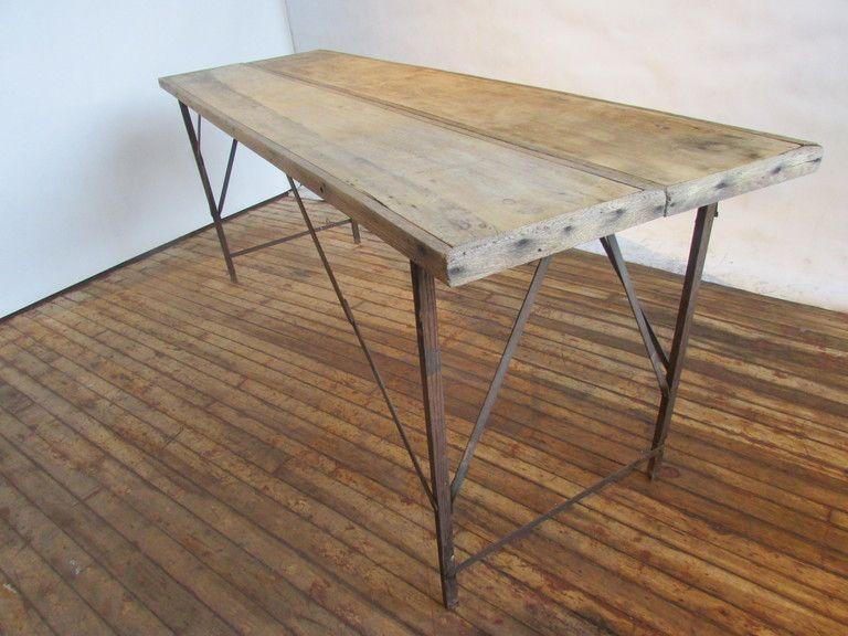 antique wallpaper pasting work table frankenfurniture. Black Bedroom Furniture Sets. Home Design Ideas
