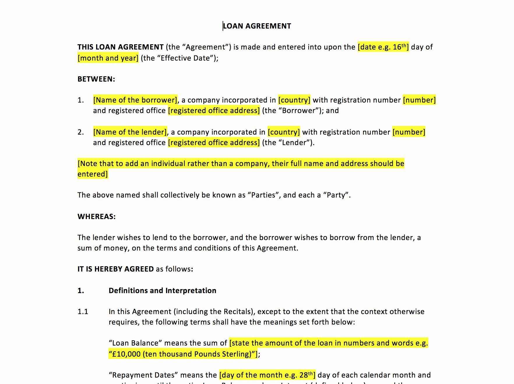 40 Simple Loan Agreement Pdf In 2020 Agreement Loan