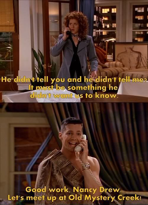 Dinzland Karen Will And Grace Belly Laughs Will And Grace