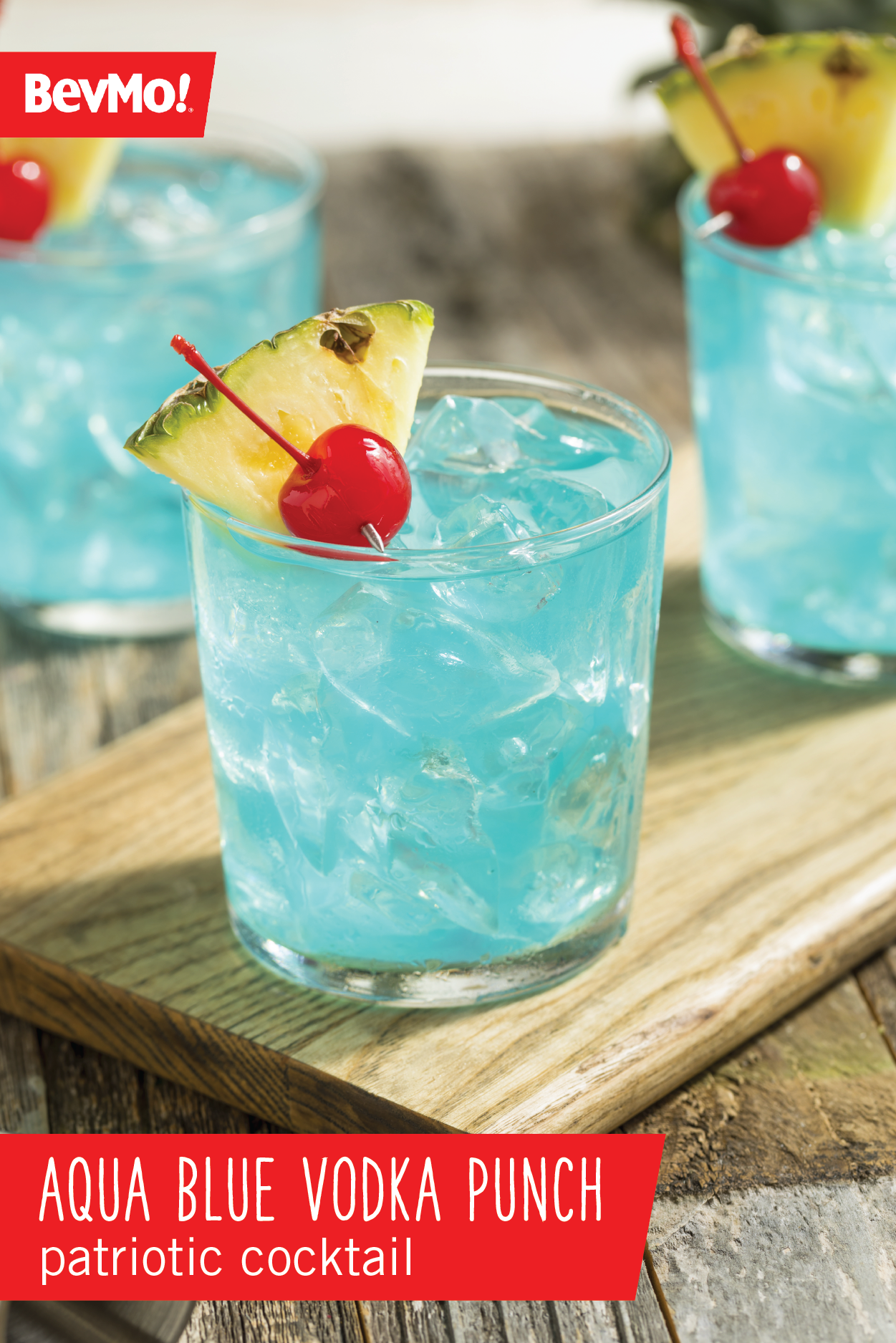 Looking for a delicious summer drink? Check out this Aqua Blue Vodka Punch Patriotic Cocktail recipe from BevMo! With Blue Curaçao, lemonade, and pineapple juice, this fruity beverage couldn't be easier to put together for your 4th of July party. #vodkapunch Looking for a delicious summer drink? Check out this Aqua Blue Vodka Punch Patriotic Cocktail recipe from BevMo! With Blue Curaçao, lemonade, and pineapple juice, this fruity beverage couldn't be easier to put together for your 4th of #vodkapunch