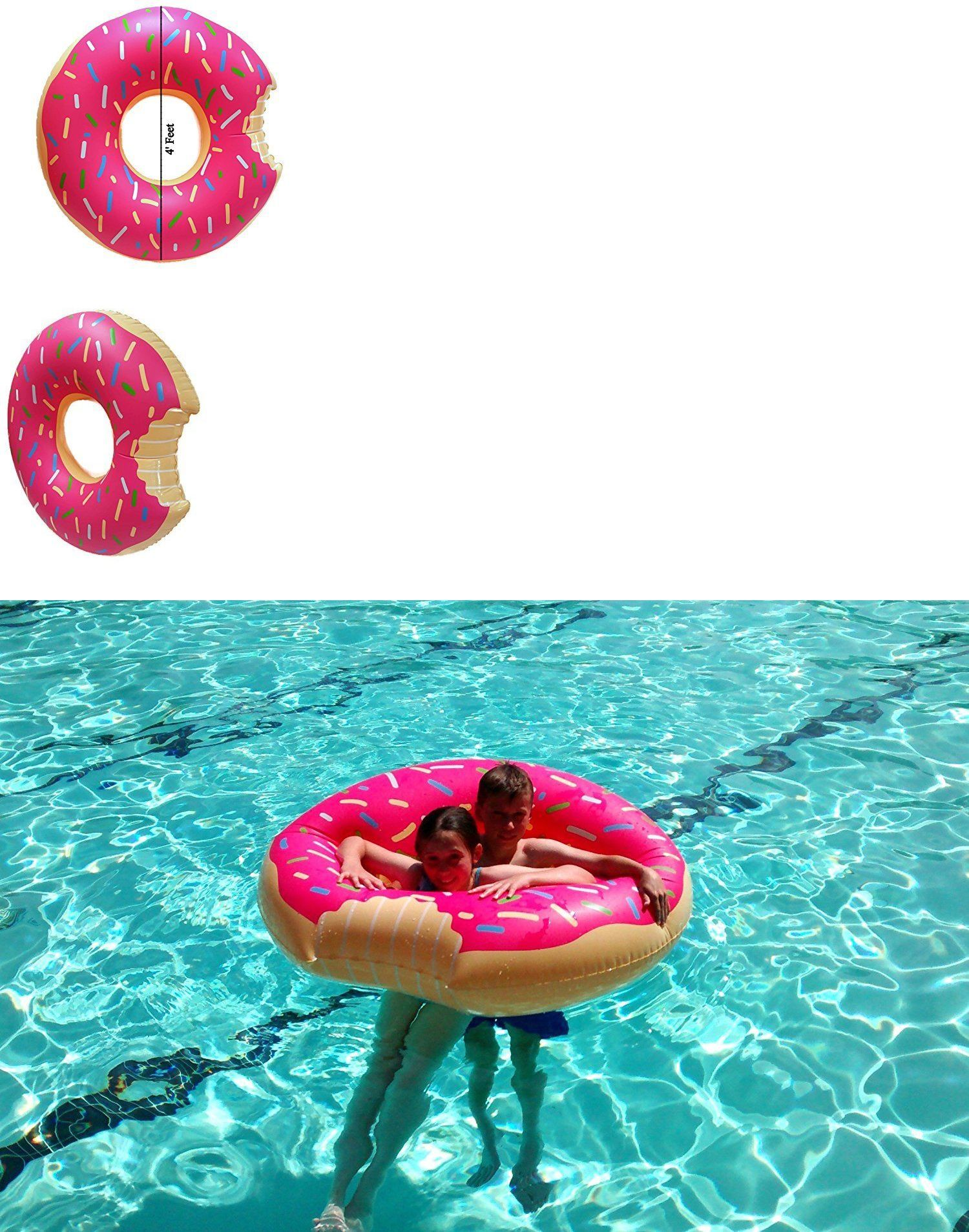 Details About Brand New Big Mouth Giant Donut Frosted Pool Float 4