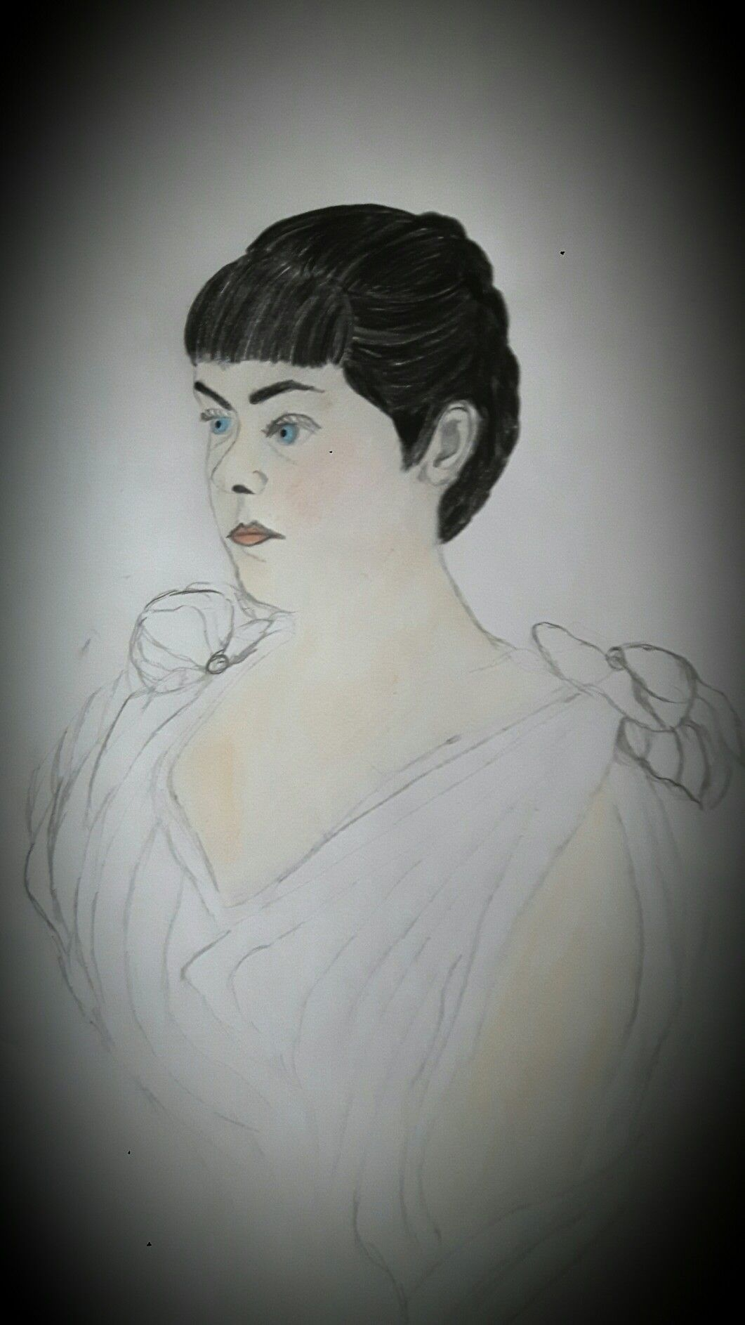 Portrait of Baroness Mary Vetsera drawn by me