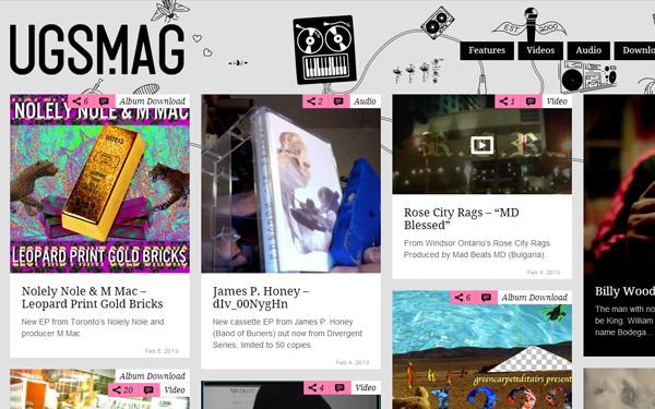 ugs magazine website blog layout interface inspiration - Blog Inspiration Design