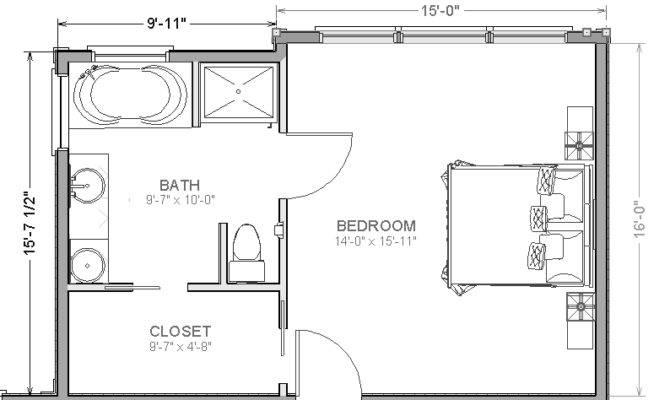 Master Bedroom Suite Addition Floor Plans House Plans 30657 Master Bedroom Plans Master Suite Floor Plan Bedroom Floor Plans
