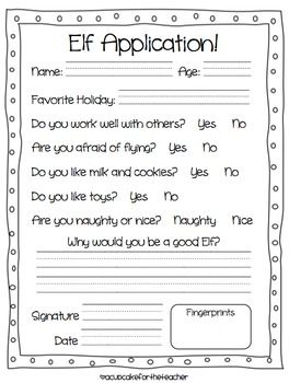 Elf Application  In The Target Language Of Course  Holiday