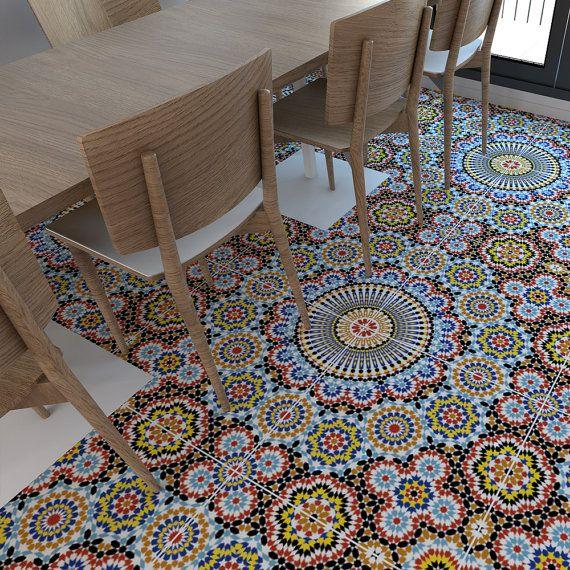 Carrelage Adhesif Vinyl Flooring Floor Tile Stickers Fliesen