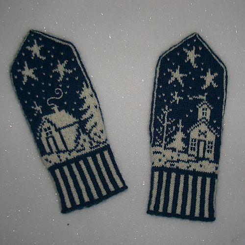 "knitnetty's Vinterland... ""knitted Scandinavian mittens - love the ..."