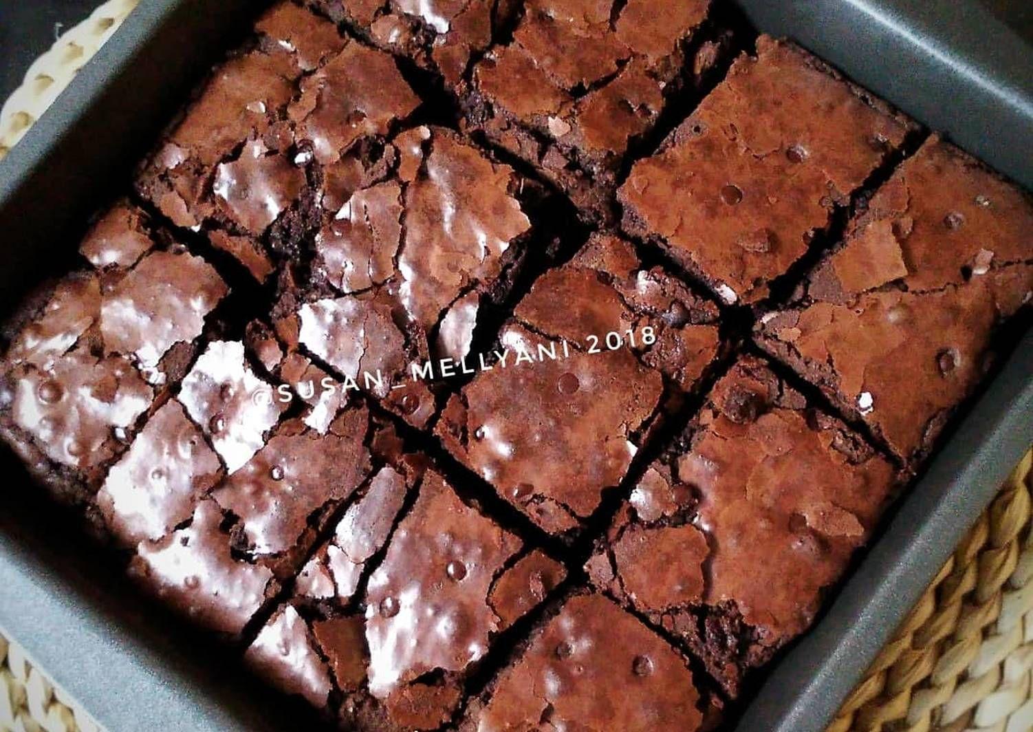 Resep Fudge Brownies Oleh Susan Mellyani Resep Resep Fudge Resep Makanan Penutup Fudge