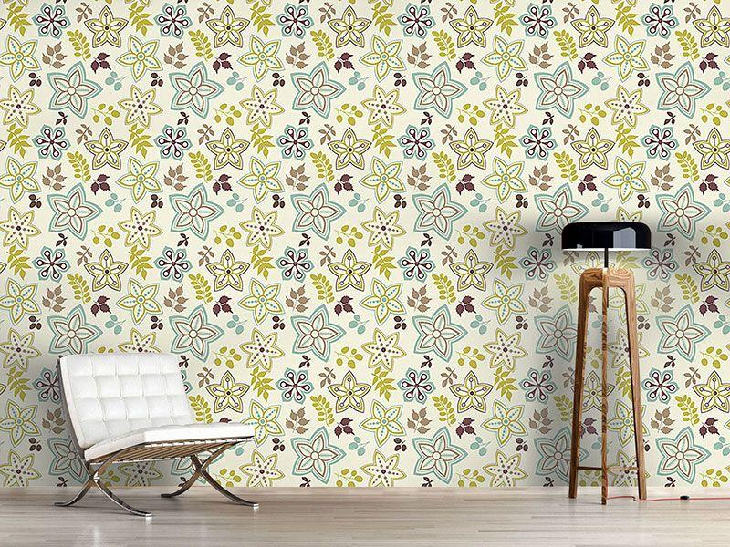 Design #Tapete Blatt Und Blume Sind Vorboten Des Frühlings