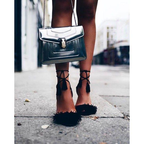 Silver High Sandals BagTumblr Heels Sandal Heel 0w8nvmN