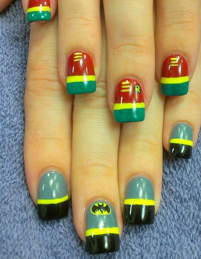 Batman And Robin Nails Been There Done That Pinterest Nails