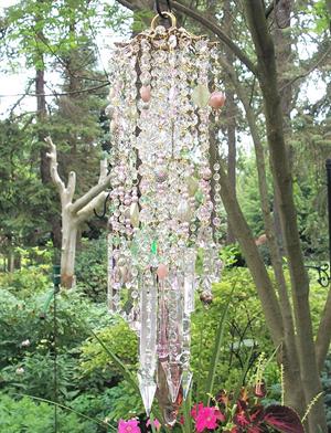 Secret Garden Antique Crystal Wind Chime