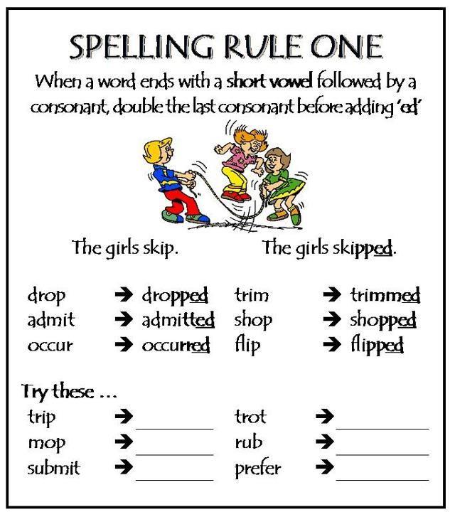 48++ Basic spelling rules worksheets Top