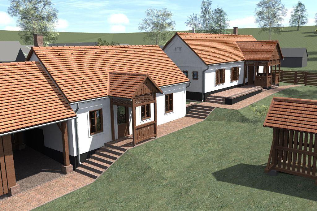 Nyeregtetős ház átalakítása