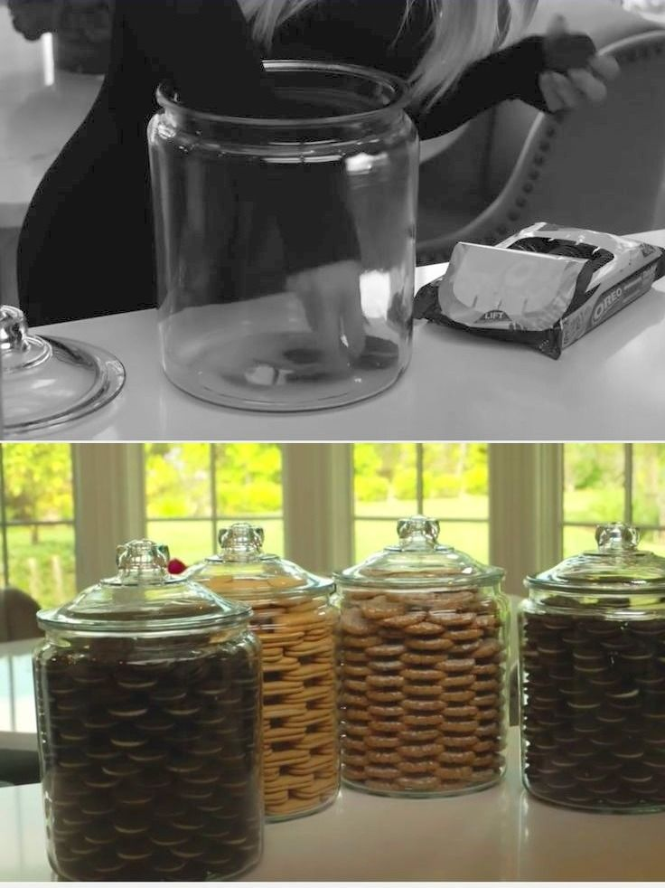 Khloe Kardashian Cookie Jar Prepossessing Before And After Ocd Cookie Jarskhloe Kardashian  Organization Design Inspiration
