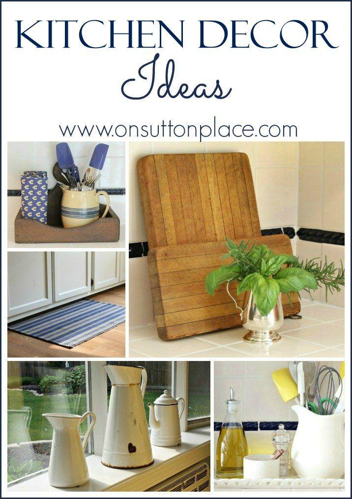 Easy DIY kitchen decor ideas that use