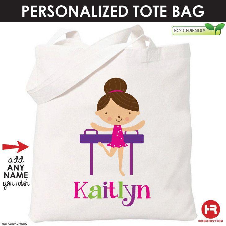 a766e5626e Gymnastics Bag - Girl Gymnastics Tote Bag - Girls Personalized Tote Bag.
