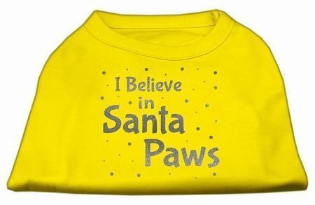Screenprint Santa Paws Pet Shirt Yellow Xs (8)