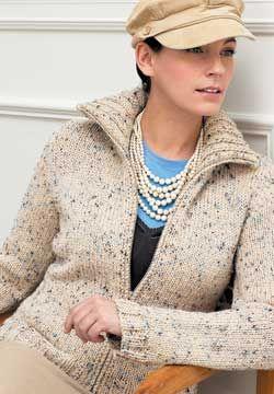 Free Knitting Pattern - Women s Cardigans  Zip Front Cardigan  e1b79f1d1