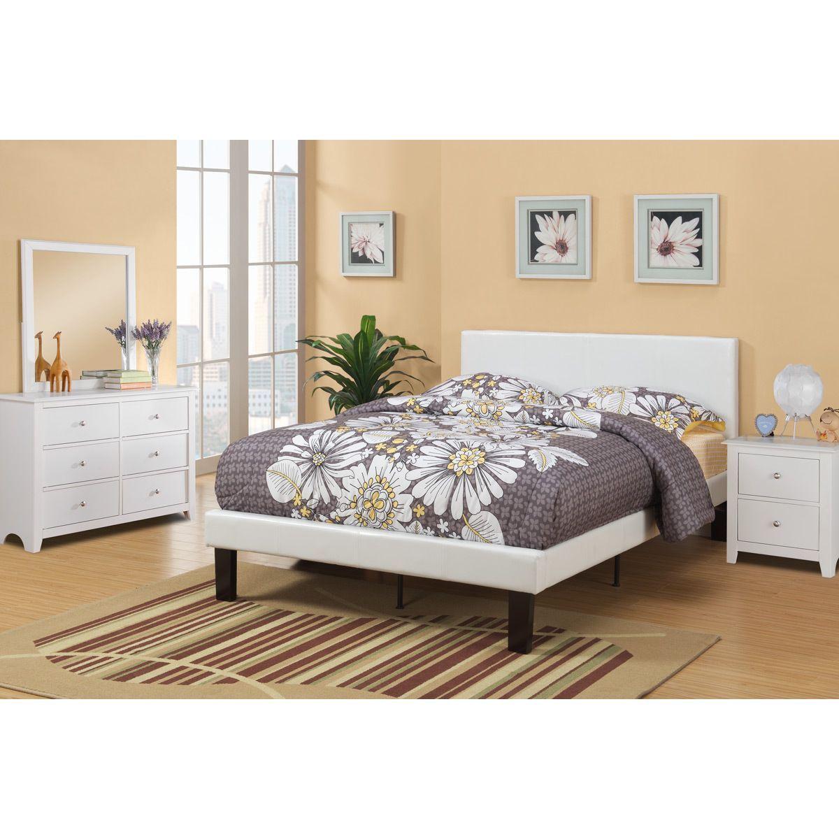 Poundex Sosnivka White 4-piece Youth Twin Bedroom Set (White)