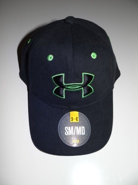 d119fa3591024 Under Armour Boy s Black Green Hat Cap Youth S M FREE Shipping NWT   UnderArmour  BaseballCap