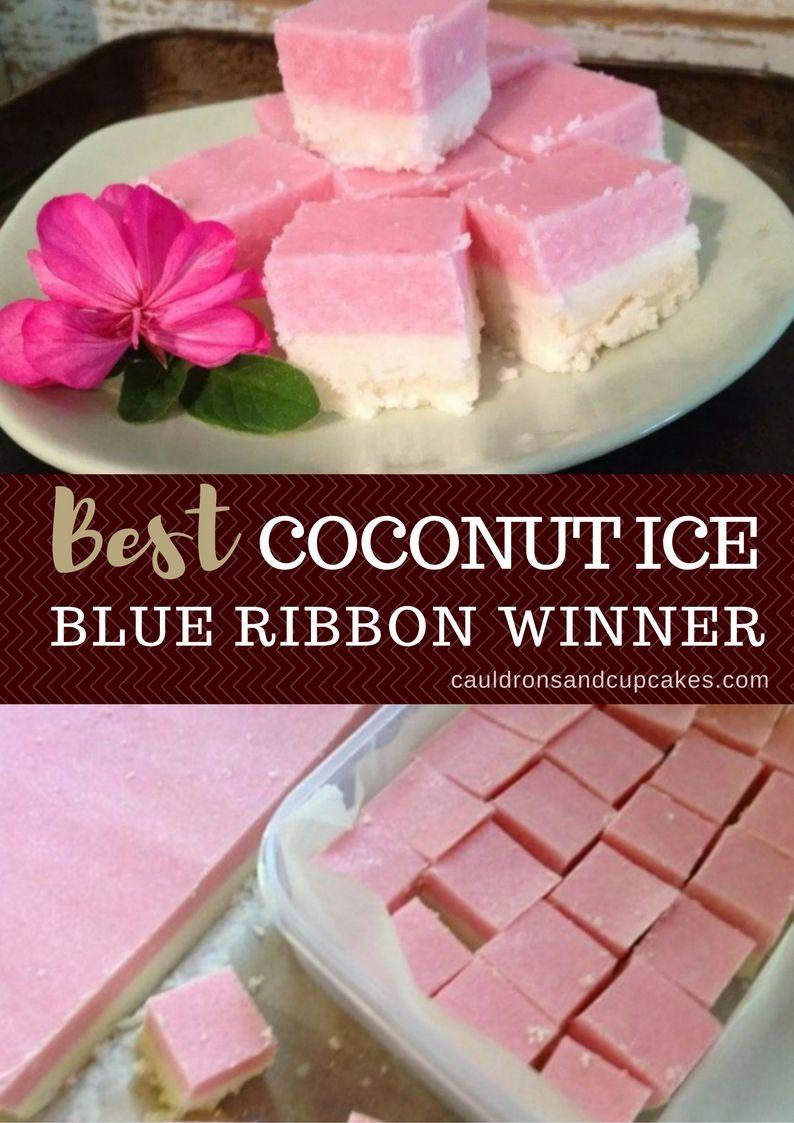 Coconut ice recipe blue ribbon slice the whoot icee