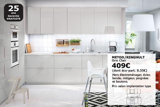 Meubles Muraux Pour Cuisine Cuisine Ikea Cuisine Moderne Grise Facade Cuisine