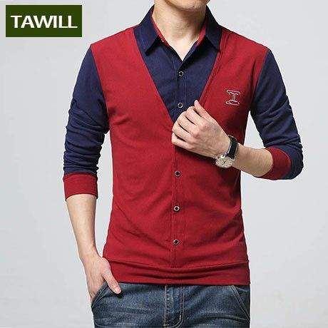 TAWILL t-shirt men clothing brand new fashion 2016 t shirt long ...