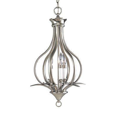 Progress Lighting Trinity Collection Brushed Nickel Chandelier at The Home Depot - Tablet  sc 1 st  Pinterest & Progress Lighting P3807 3 Light Trinity Foyer Light | Foyer Ideas ... azcodes.com