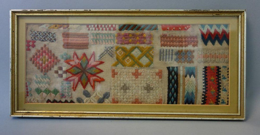 A Late 19th Century WoolWork Sampler
