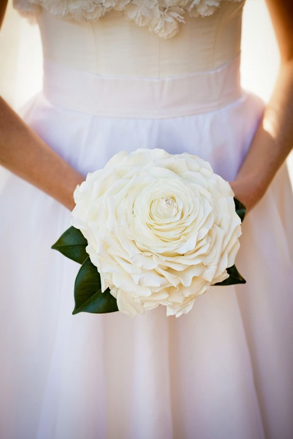 white and gold wedding bouquet  composite petal or